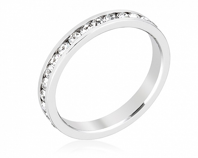 Sparkly Stackable Clear Crystal Eternity Band